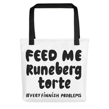 Load image into Gallery viewer, Feed Me Runeberg Torte Tote bag