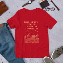 Load image into Gallery viewer, 5 Billion Star Accommodation Unisex T-Shirt