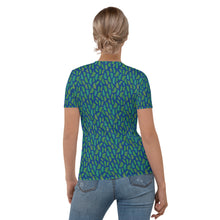 Load image into Gallery viewer, Forest Leaves (Blue) Women's T-shirt