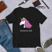 Load image into Gallery viewer, Unicorns Rule Unisex T-Shirt