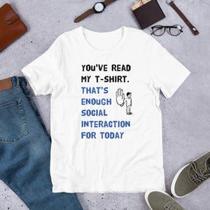 Social Interaction Unisex T-Shirt