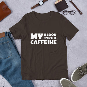 Caffeine Blood Type Unisex T-Shirt