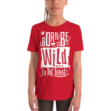 Load image into Gallery viewer, Born to be Wild Youth Short Sleeve Tee