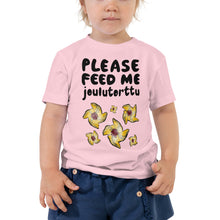Load image into Gallery viewer, Feed me Joulutorttu Toddler Short Sleeve Tee