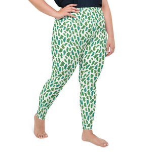 Forest Leaves Plus Size Leggings