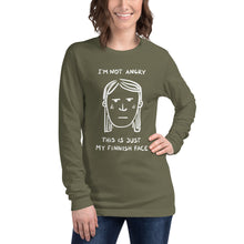 Load image into Gallery viewer, My Finnish face Long Sleeve Tee