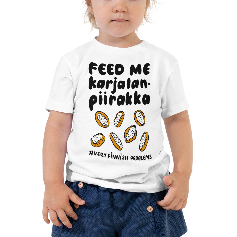 Feed me Karelian Pies Toddler Short Sleeve Tee