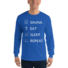Load image into Gallery viewer, Sauna eat sleep repeat Men's Long Sleeve Shirt