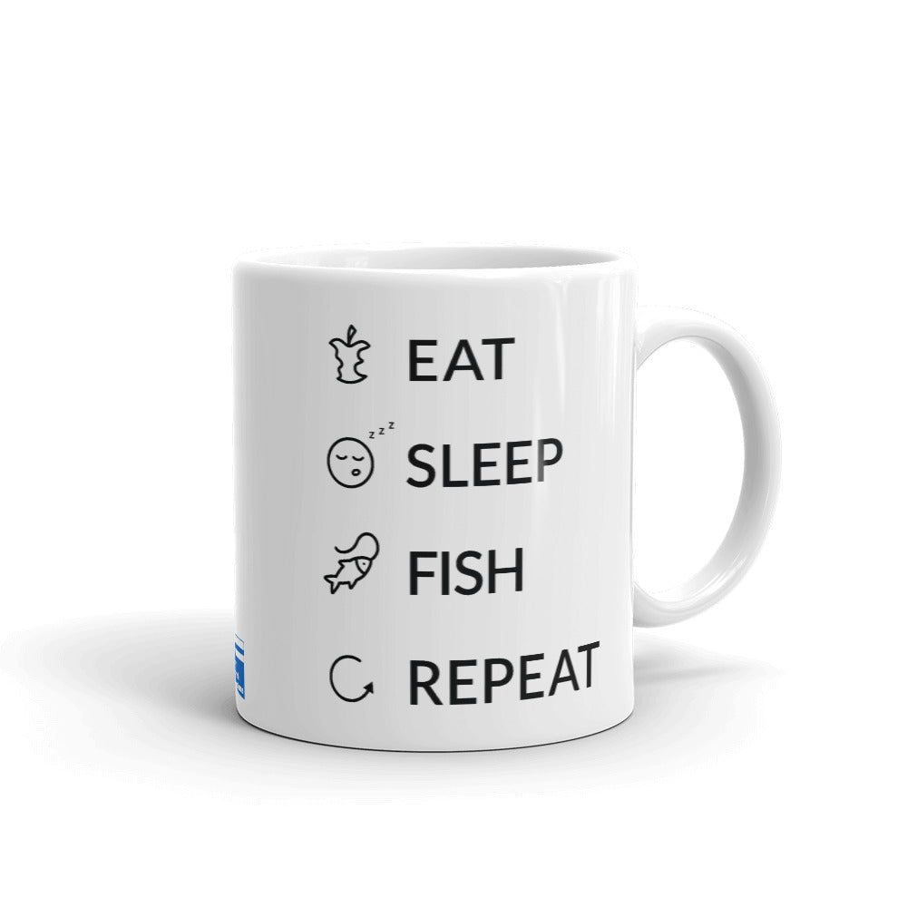 Eat Sleep Fish Repeat Mug