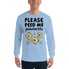 Load image into Gallery viewer, Feed me joulutorttu Men's Long Sleeve Shirt
