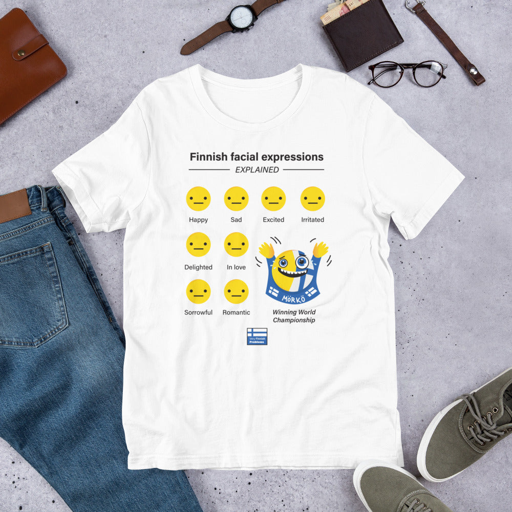 Finnish Facial Expressions Ice-hockey Unisex T-Shirt