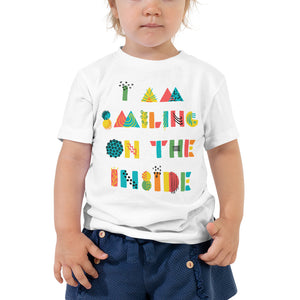 I'm Smiling On The Inside Toddler Short Sleeve Tee