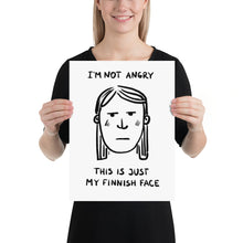 Load image into Gallery viewer, Finnish Face Female Poster