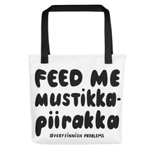 Load image into Gallery viewer, Feed Me Mustikkapiirakka Tote bag