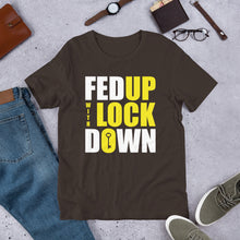 Load image into Gallery viewer, Fed Up with Lockdown Unisex T-Shirt