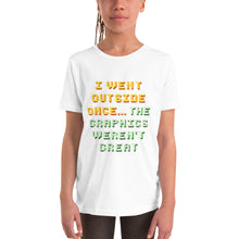 Load image into Gallery viewer, I Went Outside Once Youth Short Sleeve T-Shirt