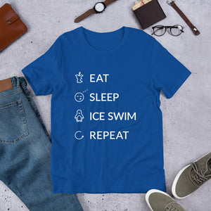 Eat Sleep Ice Swim Repeat Unisex T-Shirt