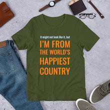 Load image into Gallery viewer, Happiest Country Unisex T-Shirt