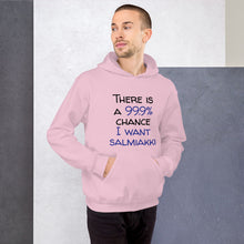 Load image into Gallery viewer, 99.9 chance of salmiakki Unisex Hoodie