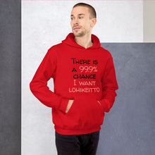 Load image into Gallery viewer, 99.9 chance of lohikeitto Unisex Hoodie