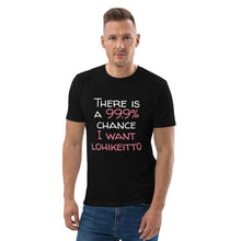 Load image into Gallery viewer, 99.9 chance of lohikeitto Unisex organic cotton t-shirt