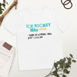 Ice Hockey Man organic cotton t-shirt