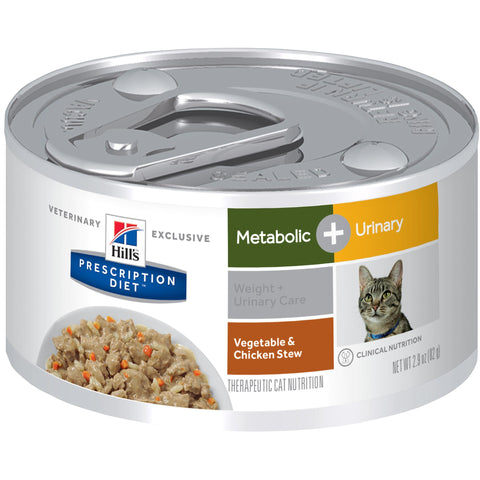 Hill's Prescription Diet Metabolic + Urinary Feline Vegetable & Chicken Stew 10082