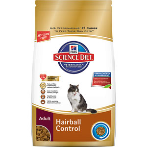 Science Diet Cat Adult Hairball Control Dry Cat Food
