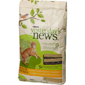 Yesterday's News Softer Texture Unscented Cat Litter at NJPetSupply.com
