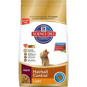 Science Diet Cat Adult Hairball Control Light Dry Cat Food