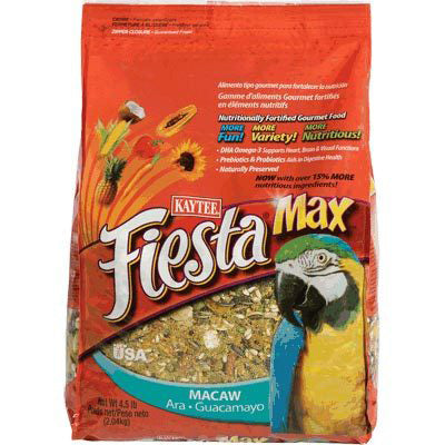 Kaytee Fiesta Max Macaw Pet Bird Food 4.5 Pound Bag at NJPetSupply.com