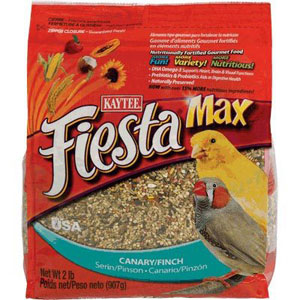 Kaytee Fiesta Max Canary & Finch Pet Bird Food 2 Pound Bag at NJPetSupply.com