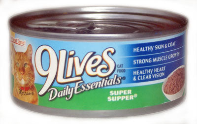 9 Lives Meaty Pate Real Chicken and Tuna Canned Wet Cat Food at NJPetSupply.com