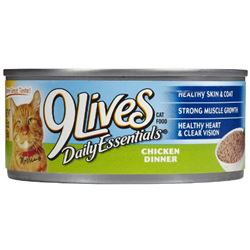 9 Lives Meaty Pate Real Liver and Bacon Canned Wet Cat Food at NJPetSupply.com