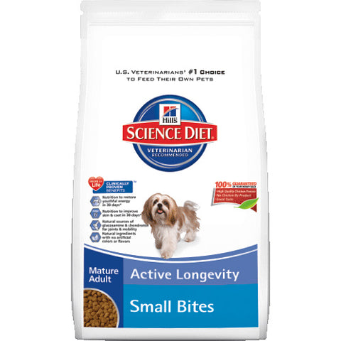 Science Diet Mature 7+ Small Bites Dry Dog Food 5 pound at NJPetSupply.com