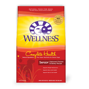 Wellness Senior Complete Health Deboned Chicken 15-pound Dry Dog Food at NJPetSupply.com