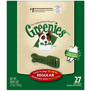 Greenies Dental Chews Dog Treats Regular (for dogs 25 - 50 lbs) 27 Count at NJPetSupply.com