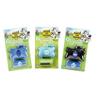 Bags on Board Dispenser w/2 Rolls - NJ Pet Supply