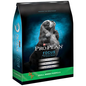 Pro Plan Focus Adult Small Breed Dry Dog Food 18 Pound Bag at NJPetSupply.com