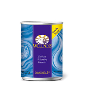 Wellness Chicken & Herring Canned Wet Cat Food at NJPetSupply.com