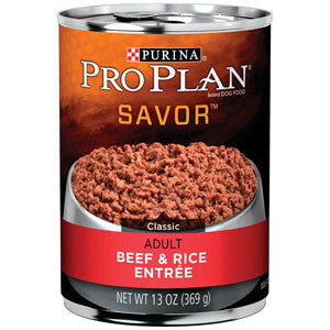 Pro Plan Adult Savor Beef & Rice Entree Canned Wet Dog Food at NJPetSupply.com