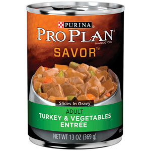 Pro Plan Adult Savor Turkey & Vegetables Entree Canned Dog Food