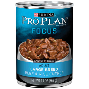 Pro Plan Adult Focus Large Breed Beef & Rice Entree Canned Dog Food