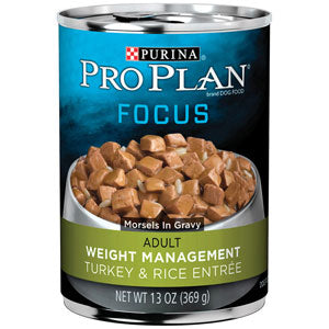 Pro Plan Adult Focus Weight Management Turkey & Rice Entree Canned Wet Dog Food at NJPetSupply.com