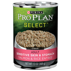 Pro Plan Adult Select Sensitive Skin & Stomach Canned Dog Food