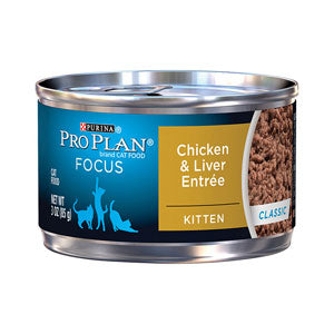 Pro Plan Focus Kitten Chicken & Liver Canned Cat Food