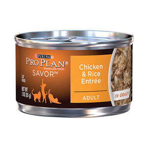 Pro Plan Savor Adult Chicken & Rice Canned Wet Cat Food at NJPetSupply.com
