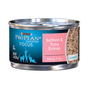 Pro Plan Focus 11+ Senior Salmon & Tuna Entree Canned Wet Cat Food at NJPetSupply.com