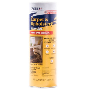 Zodiac Carpet/Upholstery Powder to Get Rid of Fleas and Ticks at NJPetSupply.com