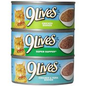 9 Lives Cases Meaty Pate - Super Supper Canned Wet Cat Food at NJPetSupply.com